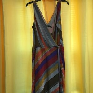 NWT Ralph Lauren Silky Wrap Dress  14p